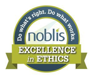 "Noblis ""Excellence in Ethics"" Seal"
