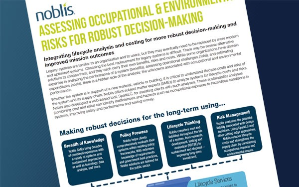 DOWNLOAD: Assessing Occupational & Environmental Risks for Robust Decision-Making